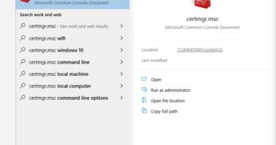 Windows Certificate Manager certmgr,msc