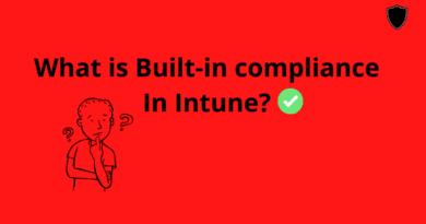 What is built in device compliance policy in Intune